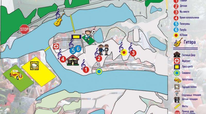 Карта Грушинский 2012